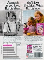 1989 Breakfast With Barbie Ad