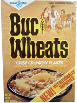 Old Buc Wheats Cereal Box