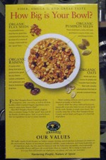 Flax Plus Pumpkin Raisin Crunch Box - Back