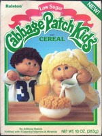 1985 Cabbage Patch Kids Cereal Box