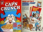 Cap'n Crunch Animal Stamps Box