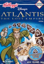 Atlantis: The Lost Empire Cereal Box