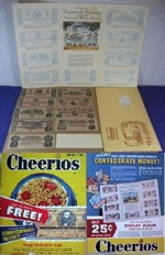Cheerios Confederate Money