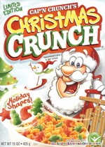 2009 Christmas Crunch Cereal Box