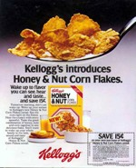 1980 Honey And Nut Corn Flakes Ad