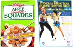 1992 Apple Cinnamon Squares Cereal Box