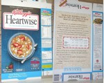Heartwise Cereal Box