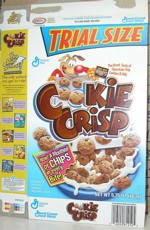 Cookie Crisp Trial Size Box