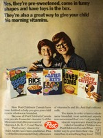 70s Ad with Frosted Rice Krinkles