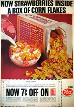 Corn Flakes And Strawberries Ad