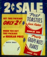 Early 50's Post Toasties Poster