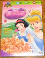Princess Fairytale Flakes Cereal Box
