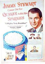 Jimmy Stewart Sparkies Ad