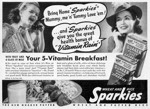1941 Sparkies Cereal Advertisement