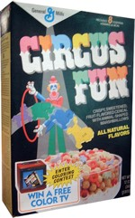 1987 Circus Fun Cereal Box