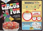 Early Circus Fun Cereal Box