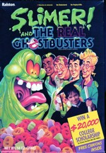 1990 Slimer And The Real Ghostbusters Cereal Box