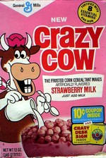 1977 Crazy Cow Cereal Box
