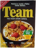 1971 Team Cereal Box