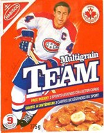 1992 Canadian Team Cereal Box
