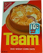 1972 Team Cereal Box