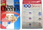 Team USA Cheerios Box