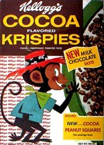 Late 1950's Cocoa Krispies Cereal Box