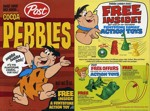 Cocoa Pebbles Box w/ Flintstone Toy