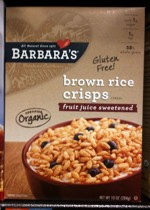 2011 Brown Rice Crisps Cereal