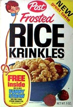 Frosted Rice Krinkles Box - Funny Straw