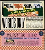 1961 Chex-Mates Coupon