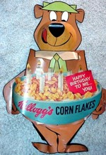 Yogi Bear Birthday Corn Flakes Display