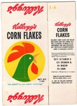 1961 Kellogg's Corn Flakes Mini Box