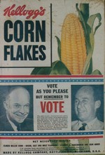 1952 Eisenhower Corn Flakes Box