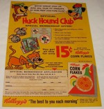 Corn Flakes Huck Hound Club