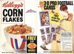 Corn Flakes Football Cards Box