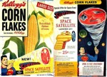 Corn Flakes Superman Space Satellite Box