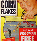1954 Corn Flakes Frogman Box